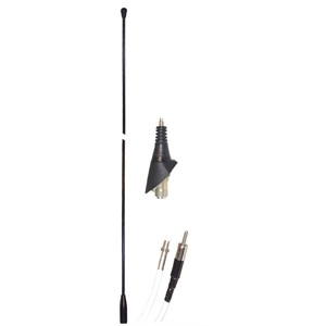 FM antenne for bil med 1,6m kabel